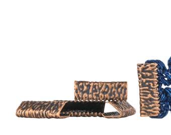 500pcs. 16mm or 5/8 inch Antique Copper No Loop Ribbon Clamp End Crimps - Artisan Series