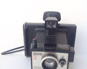 SALE Vintage Polaroid Square Shooter Land Camera instant camera. Photography. Photographer. Photograph.