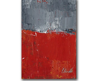 """Abstract Painting. """"Red Gray White"""""""