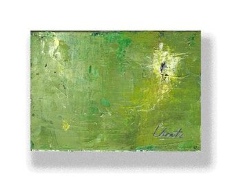 """Abstract Painting. """"Yellow Green Black"""""""