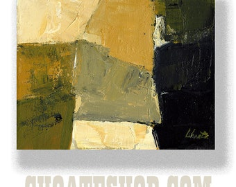 """Abstract Painting. """"Black and Gold"""""""