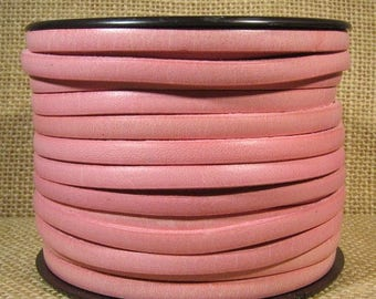 5mm Flat Leather - Distressed Rose - 5F-48 - Choose Your Length