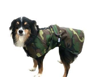 Winter Dog Coat, custom dog coat, dog coat with tummy panel, waterproof dog coat