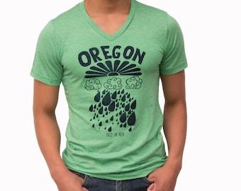 Oregon rain| Soft Lightweight T Shirt| Portland| Rain| Gift for him and her| Unisex| Travel tees| Hometown| Crew & V-Neck| Best seller.