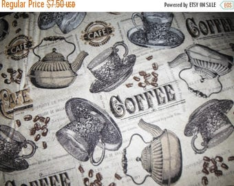 Gorgeous Coffee Fabrics--Beautiful Quilting Fabric--LAST Piece