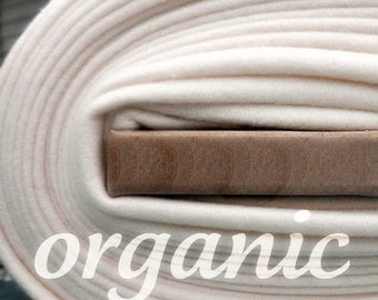 SALE Today Organic Cotton Fleece- Yard Yardage - Domestically Made GOTS Certified - Wide Cream Ivory Eggshell