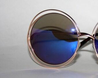 Round Sunglasses Halo Frame Rockerchic