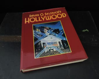 David O. Selznick's Hollywood Coffee Table Vintage Book for Decor - Hardcover - Classic Movies Musicals Films Movie Stars Hollywood
