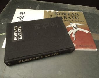 Korean Karate Vintage Book - First Edition Martial Arts Free Fighting Techniques - Tae-Kwon Do - Self Defense Guide Book  S. Henry Cho