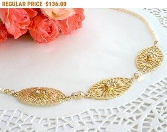 20% OFF - CIJ SALE Gold bib necklace, Gold necklace, Bib necklace, Gold statement necklace, Statement necklace, Crystal statement necklace,