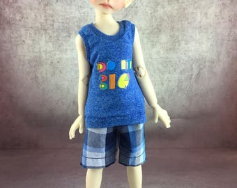 Do It Big tank top and board shorts for Maurice by Kaye Wiggs MSD BJD Boys