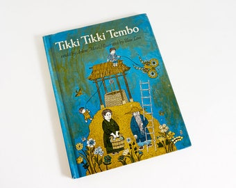 Vintage 1960s Childrens Book / Tikki Tikki Tembo retold by Arlene Mosel 1968 Hc VGC / Ancient Chinese Folktale