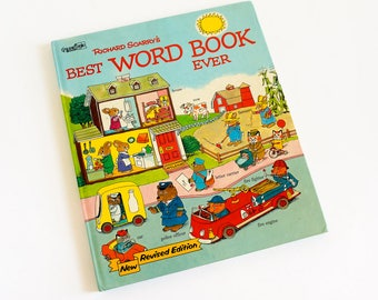 Richard Scarry's Best Word Book Ever 1980 Hc, Early Reader Identify Objects Association, Oversized Vintage 1980s Childrens Golden Book