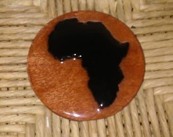 Africa Fridge Magnet Wood Color
