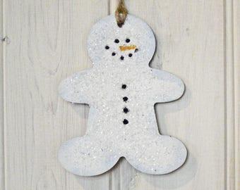 Glitter Snowman Christmas Tag