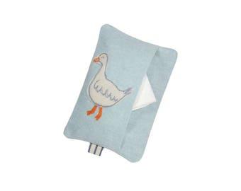 Pocket Tissue Holder, Little Goose Tissue Case, Gift for Women, Blue Tissue Holder, Travel Tissue Case, Teacher Gift