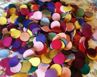 """110 2"""" New colors added Wool penny rug circles"""