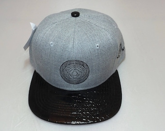 Snapback Flat-Brim Hat - Symbol of Light (One-of-a-kind)