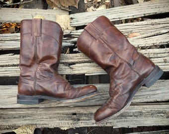 Vintage Cowboy Boots Women Size 7 Justin Roper Cowgirl Boots, Western Boots