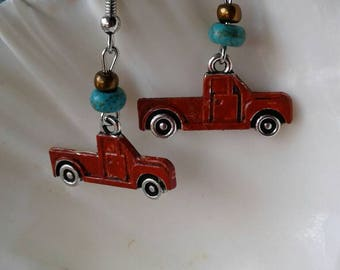 Rustic Pickup Truck Earrings