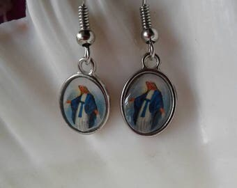 Religious Earrings,Virgin Mary