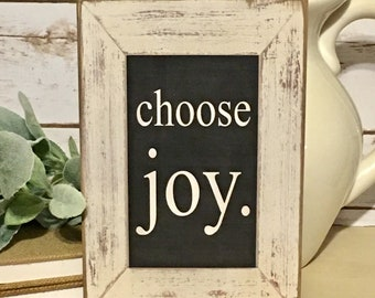 Choose Joy Inspirational Sign,Rustic Sign,Farmhouse Sign,Rustic Decor,Inspirational Gift