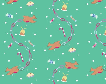 Robin Wrapping Paper - Christmas Wrapping Paper - Recycled Wrapping Paper - Robin Illustration