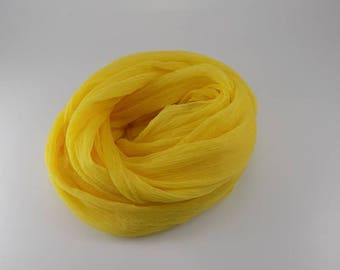 Handmade Silk Scarf --- Yellow