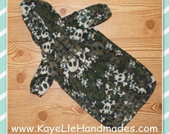 16 - 18 inch Baby Doll Clothes - Snowsuit - Camo with Skulls - Green and Black