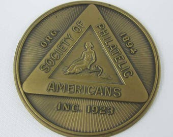 Bronze Medal Society Of Philatelic Americans Walton E. Tinsley~Stamp Collecting