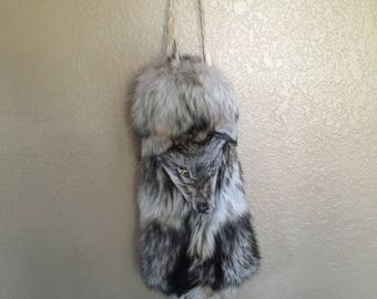 Wolf bag native american chanupa or flute storage pow wow MADE TO ORDER