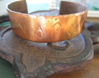 Vintage Copper Cuff Bracelet Designed and Made by Sidney Beddall