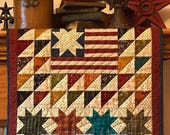Old Glory Quilt Kit from Kim Diehl's Simple Whatnots Club 7 using her Helping Hands Collection for Henry Glass Fabrics