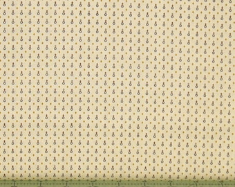 Cream Tone-on-Tone Geometric Print 100% Cotton Quilt Fabric for Sale, Kim Diehl's Katie's Cupboard Collection, HEG6678-40, Ivory