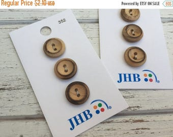 """SALE Wood Buttons, Twiggy Wood Buttons by JHB, 2 Hole, Carded Set of 3, Style 352, 5/8"""" (16mm), Sewing, Crafting, Quilting, Embellishments"""