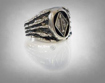 1%er OUTLAW BIKER ring sterling silver 925 ezi zino