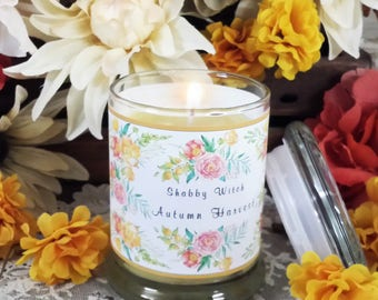 8.oz Autumn Harvest Candle, Jar Candle, Altar Candle, Fall Candle. Mabon Candle