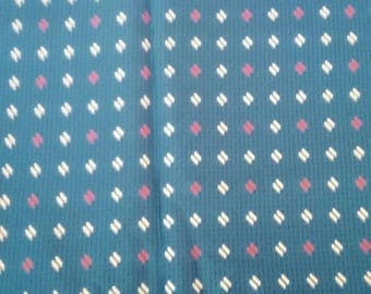 Blue Silk Vintage Fabric Yardage