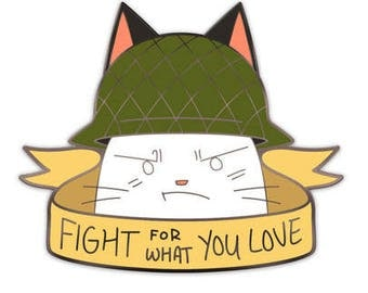 Army Cat Pin