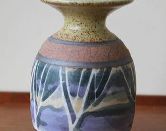 Vintage Studio Pottery Vase by Peter Price, Mid Century Modern, Weed Pot