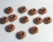 9mm Large Hole Genuine Copper Beads 12 pcs. GC-239-B