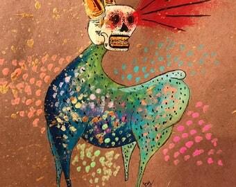 Beast Original Folk Art