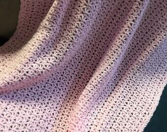 Crocheted Pink Baby Afghan