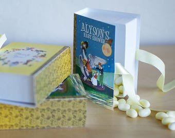 Mother Goose Favors, Nursery Rhymes Candy Boxes in the shape of a Book (PRIVATE SALE FOR Kelley)