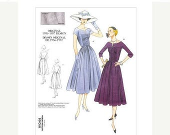 On Sale Sz 12/14/16 Vogue Original Design Pattern V1044 - Misses' Dress and Belt in Two Variations - 50's Dress Pattern