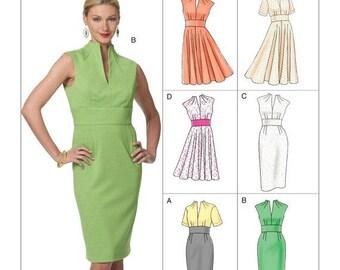 On Sale Pick Your Size - Vogue Dress Pattern V8633 - Misses' Funnel Neck Dresses in Six Variations - Vogue Easy Options Patterns