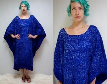 70s Batik Caftan  //  Cotton Caftan //  Kaftan Dress  //  THE BAVINDA