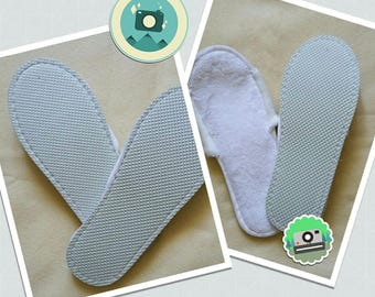 Add a sole to your crochet slipper