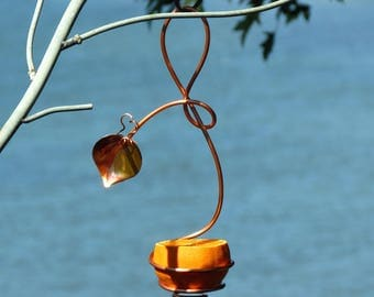 Oriole Feeder, Gardening, Feeders, Copper Art Vine, Copper Bird Feeders, Hanging Bird Feeder
