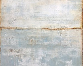 Serene Soft Seascape Painting 24x24 by Erin Ashley